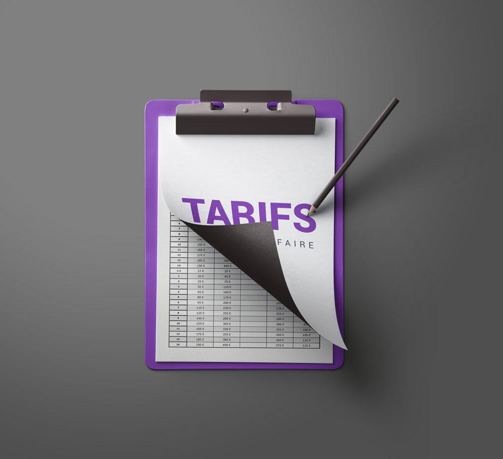 Grille tarifaire imprimerie pro